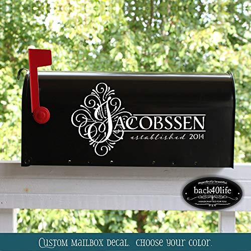 Back40life | Jacobssen brievenbus bruiloft kaart doos Vinyl Decal (E-004n) gemakkelijk aan te brengen en verwijderbaar