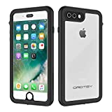 ORDTBY iPhone 7 Plus/8 Plus Waterproof Case, Underwater Full Sealed Cover IP68 Certified for Waterproof Snowproof Shockproof and Dustproof Case for iPhone 7 Plus/8 Plus - 5.5 inch(Clear)