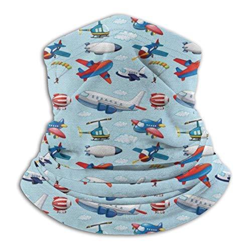 Lzz-Shop verschillende soorten Cartoon Vliegtuigen Drijvende hals Warmer -Hoofddeksels Brede Hoofdbanden Sjaal, Nek Gaiter Hoofdband, Sport Sjaal