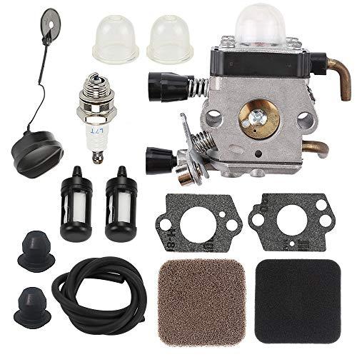 FS85 Carburetor for Sthil FS75 FS80 FS85 HS75 HS80 HS85 HL75 FH75 HT70 HT75 KM80 KM85 SP80 SP85 FC75 FC85 String Trimmer & 4137 124 2800 4137 124 1500 Air Pre Filter