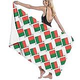N/A Toallas de baño Armadura de Bandera de Madagascar Toalla de Playa Multiusos Ultra Suave