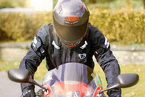 JET Motorradjacke Textil Wasserdicht Winddicht Mit Protektoren Multifunktional Schwarz - 4