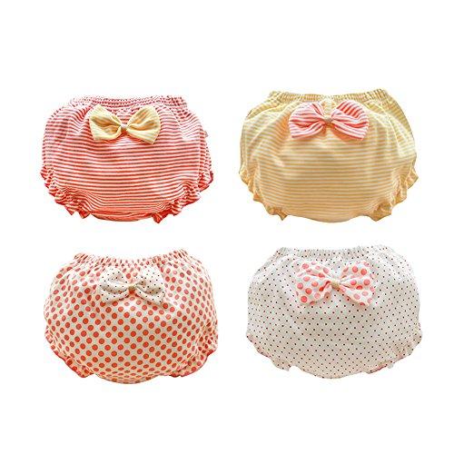 Losorn ZPY - 4 bragas para niña, cubrepañales, muy transpirables para secarse rojo 90 cm(12-24 meses)
