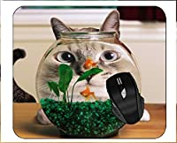 コンピュータ用マウスパッドユーモアキャットフィッシュマウスパッド