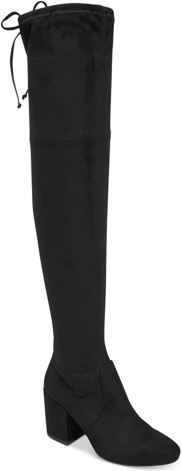 Bar III Womens Georgia Almond Toe Tie Over-The-Knee Boots