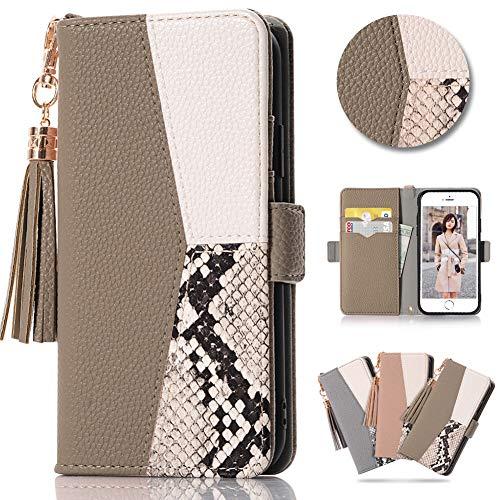 iPhone SE ケース (2020モデル) iphone8 ケース 手帳型 スマホカバー iphone7 ケース アイフォン8ケース おしゃれ 人気の 女性の iphone7スマホケース アイフォン7 カバー 手帳型 携帯カバー iphone8 カード収納 薄型 財布型 軽さ アイフォンSE 携帯電話ケースiphone 7 ストラップ かわいい スマホ アイフォン7 の 携帯ケース アイフォーン 7 case ストラップホール付き 革 iphone8 純正 ケース てちょう型 ブランド お洒落 シンプル タッセル 上品な 耐衝撃 防水 高級PUレザー 横置きスタンド機能 アイフォン 8 保護ケース カード入れ 手帳型 (iphone 8/7 兼用(画面が4.7インチ), アプリコット)