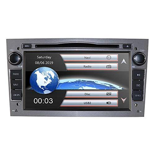 JALAL Radio para automóvil con Pantalla táctil capacitiva de 7 Pulgadas, Reproductor de DVD y Audio para automóvil en el Tablero estéreo para Opel Antara/Astra H/Combo/Vectra C Soporte Mirror-Link B