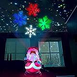 DZCGTP Luz de Noche LED de decoración navideña - Luces de proyector de muñeco de Nieve con patrón Giratorio de 4 Colores Árbol de Navidad de muñeco de Nieve, Copo de Nieve, B