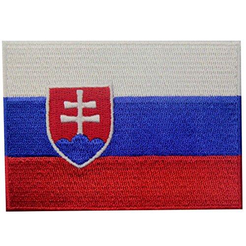 Slowakei Flagge Bestickter Slowakische Republik Aufnäher zum Aufbügeln/Annähen