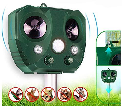 Monkey Home Outdoor 2018 Ultraschall Solar Tier Räumungsgerät mit Bewegungsmelder IP65 Insektizid mit Lautsprecher Repellent, Grün