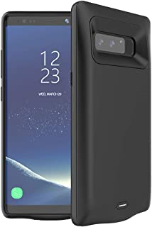 Battery Case for Galaxy Note 8, FNSON 5500mAh Portable Protective Charging Case Extended Rechargeable Battery Pack Charger Case Compatible with Samsung Galaxy Note 8 (Black)