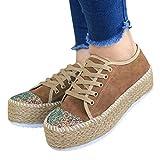 Malbaba Plataforma de mujer con cordones Wingtips Zapato Oxford de punta cuadrada