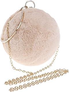 Fine Bag/Handbag Fashion Ladies Banquet Bag Spherical Evening Dress Dinner Ball Annual Meeting Handbag Banquet Bag (Color : Apricot, Size : One Size)