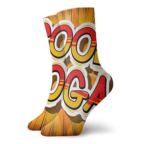 Be-ryl Estilo Fresco de cómic de Yoga sobre Fondo Abstracto Calcetines personales, para Calidez, Calcetines antidesgaste