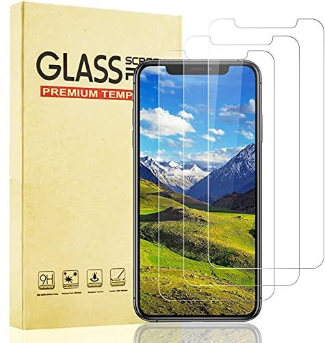 Lixuve Protector Pantalla para iPhone 11 Pro MAX y iPhone XS MAX, 3 Unidades Apple Vidrio Cristal Templado, [Sin Burbujas] [Alta Definicion] [Anti-Huella]