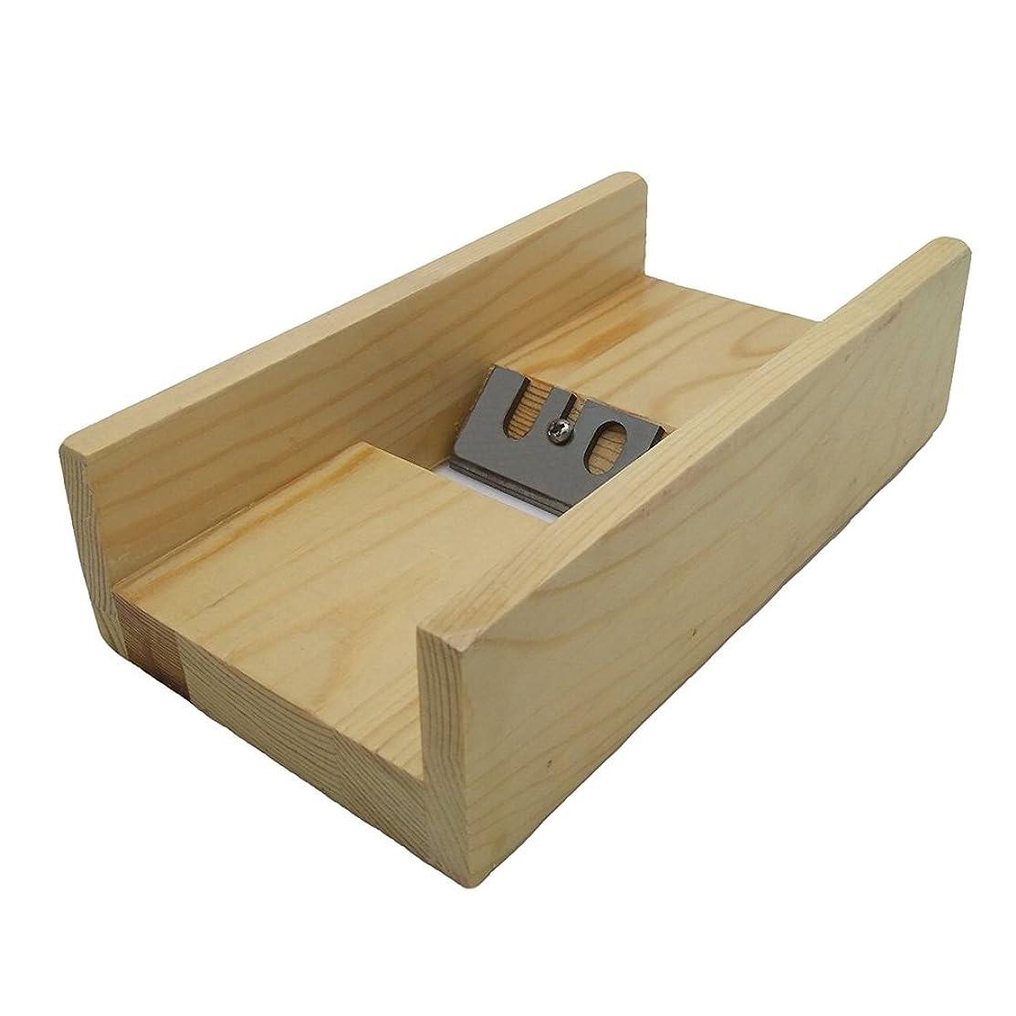Dealglad Wooden DIY Soap Mold Handmade Loaf Cutter Beveler Planer Soap Making Tool