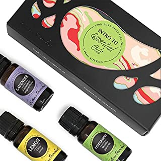 Edens Garden Intro to Essential Oils 3 Set, Best 100% Pure Essential Oil Aromatherapy Starter Kit (for Diffuser & Therapeutic Use), 10 ml
