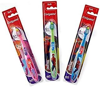 6+年の歯ブラシを笑顔 (Colgate) (x 4) - Colgate Smiles 6+ Years Toothbrush (Pack of 4) [並行輸入品]