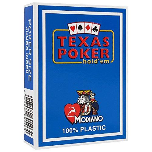 Modiano Carte da gioco Poker Texas Hold' em 100% plastica, 2angoli, jumbo Index