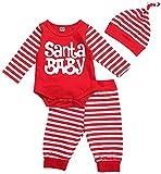 Bebé recién Nacido niño niña Trajes de Navidad de Manga Larga a...