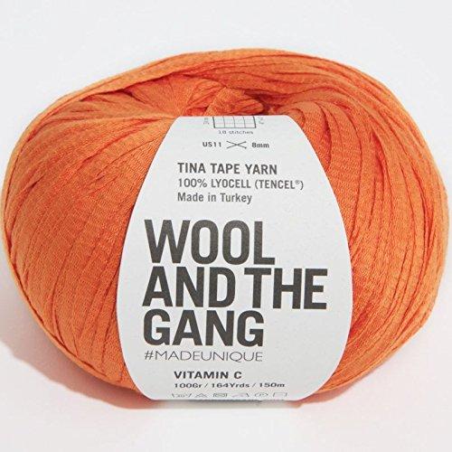 Wool and the Gang Tina Tape Yarn Vitamin C