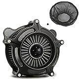 Black turbine Air Cleaner Grey Intake Filter Rain Socker Cover Fit For...