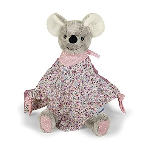 Sterntaler 3212001 Schmusetuch Maus Mabel, Für Babys ab dem 1 Monat, Größe M, 36 cm, Grau/Mehrfarbig