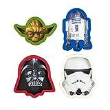 Marvel 'Darth Vader/Yoda/Stormtrooper/D2 Star Wars Ausstechformen, Mehrfarbig, 4Stück