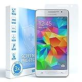 EAZY CASE 3X Bildschirmschutzfolie kompatibel mit Samsung Galaxy Grand Prime, nur 0,05 mm dick I Bildschirmschutz, Schutzfolie, Bildschirmfolie, Transparent/Kristallklar