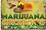 Señal de metal N/D 420 Marihuana Cannabis Movie Poster Pin Up Girl Decoración de garaje Decoración d...