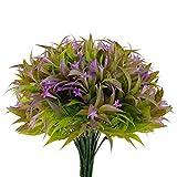 U/N Artificial Morning Glory Shrubs Bundles 7 PCS Fake Plastic Spray Grasses Bouquets for ...
