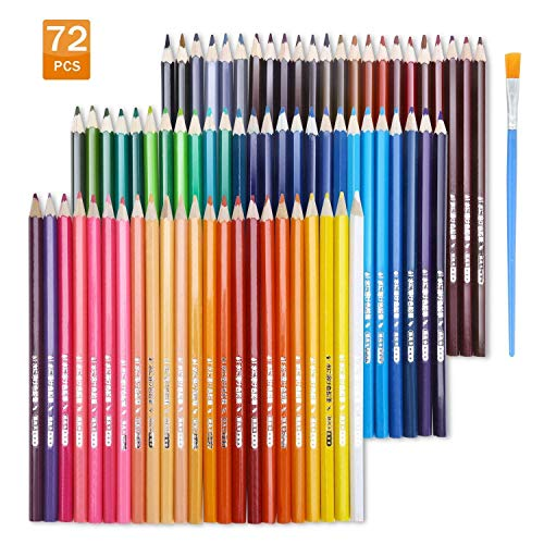 EBES Lápiz de Color 72 Colores Soluble en agua Regalo Ideal para Artistas, Adultos y Niños