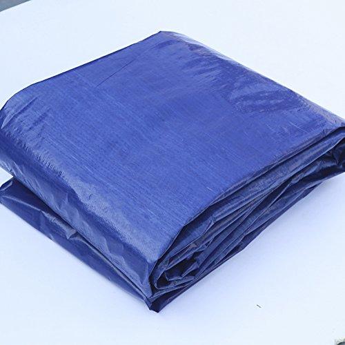 QIANGDA Bâche Imperméable Gel Résistant Pliage Facile Anti UV Anti-Vent, 200g / M², Épaisseur 0.3mm, Bleu + Gris, 4 Tailles Facultatives, Taille Personnalisable (Taille : 6 x 8m)