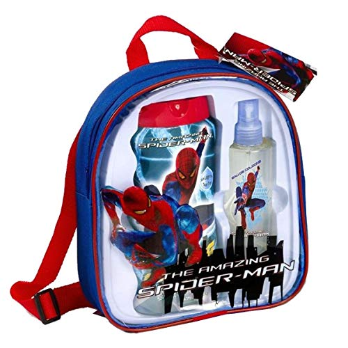 Marvel The Amazing Spiderman cadeauset EDC, 2 in 1 schuimbad, shampoo en tas, 1 stuks (1 x 3 stuks)