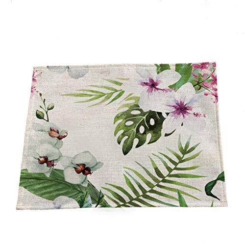 HUAYING Servilletas de tela con estampado de hojas de 32 cm, 42 unidades, para bodas, fiestas, cenas, decoración para el hogar, tela textil