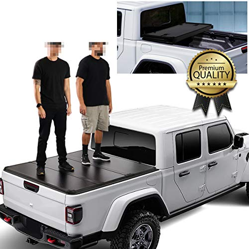 DNA Motoring TTC-HARD-082 Hard Top Folding Solid Tri-Fold Truck Bed...