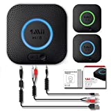 Receptor Bluetooth, Adaptador de Audio Inalámbrico Hi-Fi, 1Mii Adaptador Bluetooth 4.2 con 3D Surround aptX baja latencia para sonido en Streaming. Chip avanzado CRS Bluetooth 4.2 de última generación