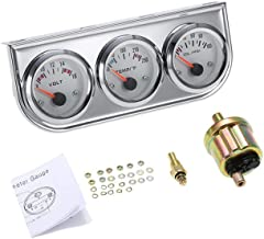 "3 in 1 Car Meter Auto Gauge(Voltmeter + Water Gauge + Oil Press Gauge),2"" Chrome Voltage Gauge Water Temp Gauge Oil Pressu..."