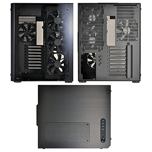 Lian Li PC-O8 WX Midi-Tower Schwarz - Computer-Gehäuse (Midi-Tower, PC, Aluminium, Glas, Schwarz, ATX,EATX,Micro ATX, 17 cm)