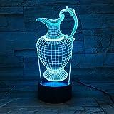 Vase Vase Lampe Acryl Nachtlicht Schlaf Licht Batterieleistung Tischlampe Schlafzimmer Dekoration Tropfen
