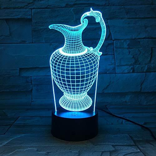 Florero jarrón lámpara acrílico luz Nocturna luz del sueño batería energía lámpara de Mesa Dormitorio decoración caída