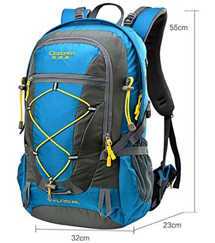 Outdoor randonnée sac à dos ultra léger 40L usure tour d'épaule-voyage sac housse imperméable d'équitation , blue 40 litres