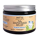 Maty's Baby Diaper Rash Relief - Made With 99 % Organic Ingredients. Made with Lavender, Aloe, Zinc - 10 oz.