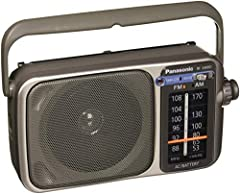 RF 2400 AM/FM Analogue Tuner : Frequency Range FM 87 to 108MHz (50kHz step) AM 520 to 1730kHz (9/10kHz step) 10 centimeter Speaker and Ferrite Antenna for good sound Audio System Power Output (RMS) : 770mW Max other power source battery DC   6V (R6/L...