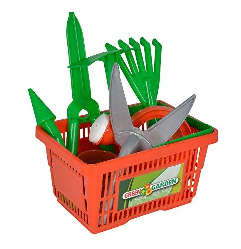 Simba 107134088 - Gartenwerkzeug in Korb