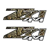 GOLD HOOK Set of 2 07-13 Chevy Silverado Z71 4x4 Decals Realtree Camo Stickers Bed Side