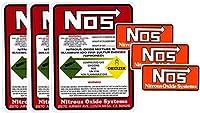【各3枚セット】 NOS & NOS 『WARNING』 セット レーシング ステッカー 世田谷ベース