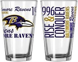 Boelter Brands 2015 NFL Football Spirit Series Beer Pints - 16 Ounce Mixing Glasses, Set of 2