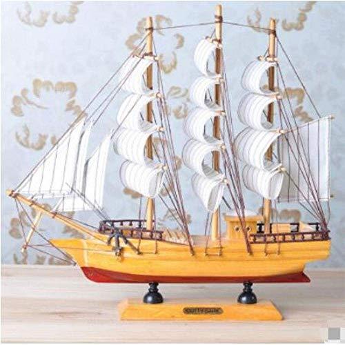 Decoraciones de la sala de estar Chem Sailboat Modelo de velero Modelo