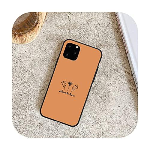 Lujo Romántico Simple Flor Teléfono Casos para iPhone 8 7 6 6 S Plus X 5S SE 2020 XR 11 12 Pro mini pro XS MAX-a9-Para iphone 6 6s